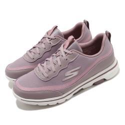 Skechers 休閒鞋 Go Walk 5 運動 低筒 女鞋 穩定 緩震 輕盈 透氣 瑜珈鞋墊 紫 粉 124228MVE [ACS 跨運動]