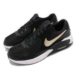 Nike 休閒鞋 Air Max Excee 運動 女鞋 氣墊 舒適 避震 簡約 球鞋 穿搭 大童 黑 金 CD6894006 [ACS 跨運動]