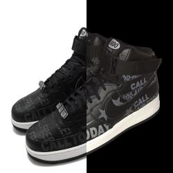 Nike 休閒鞋 Air Force 1 07 PRM 男鞋 反光 魔鬼氈 Toll Free 塗鴉 黑 灰 CU1414001 [ACS 跨運動]