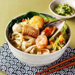 漁村-雞汁昆布海鮮麵320g±10%