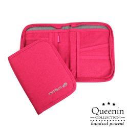 DF Queenin - 韓版旅行專屬隨身護照包錢包-共4色