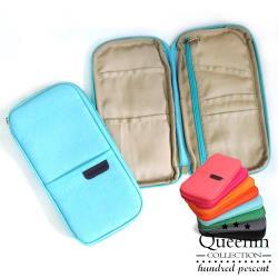 DF Queenin - 韓版旅行隨身幫手護照夾卡片包-共4色
