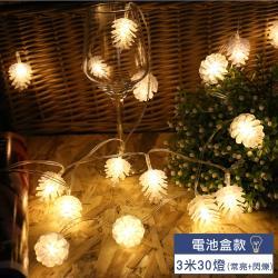 【EAtrip】松果*LED燈飾燈串組《電池款》3米30燈-暖色光