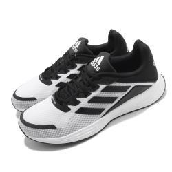 adidas 慢跑鞋 Duramo SL 運動 男鞋 愛迪達 網布 路跑 透氣 緩震 穿搭 白 黑 FW7103 [ACS 跨運動]