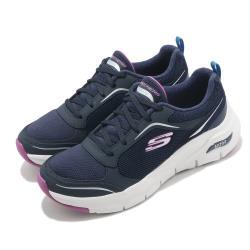 Skechers 休閒鞋 Arch Fit 健走 專利鞋墊 女鞋 郊遊 踏青 穩定 回彈 避震 透氣 藍 紫 149413NVPR [ACS 跨運動]