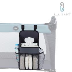 【L.A. Baby】置物收納袋 遊戲床專用(灰色)