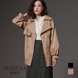現貨【MEDUSA 曼度莎】公主袖雙排釦純棉風衣外套 - 2色 / 翻領風衣