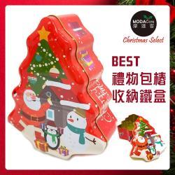 摩達客耶誕-紅面老公公雪人聖誕樹造型糖果罐擺飾-交換禮物