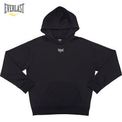 【美國EVERLAST】美式風格彩色刺繡Logo帽T(黑色)