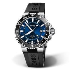 ORIS豪利時 0179877544135-0742464EB / Aquis GMT雙時區潛水腕錶 / 43.5mm