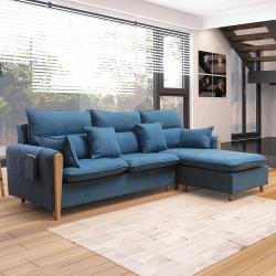 H&D 西雅圖L型布沙發