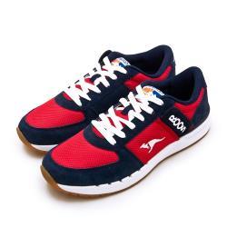 【KangaROOS】男 經典復刻慢跑鞋 COMBAT紅標袋鼠鞋系列(紅藍白 91032)