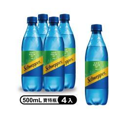 舒味思 氣泡水萊姆口味 寶特瓶500ml(4入/組)