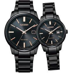 CITIZEN 專屬於你 光動能對錶(BM7527-89E+EW2597-86E)
