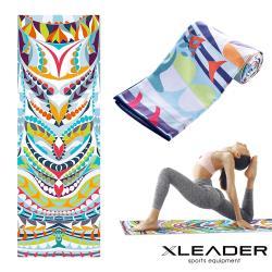 Leader X 波羅多柔細雙面絨 速乾防滑瑜珈鋪巾 繽紛之地
