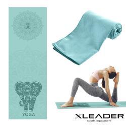 Leader X 波羅多柔細雙面絨 速乾防滑瑜珈鋪巾 蒂綠之象