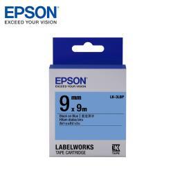 EPSON LK-3LBP C53S653406 粉彩系列藍底黑字標籤帶(寬度9mm)