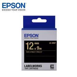 EPSON LK-4BKP C53S654407 粉彩系列黑底金字標籤帶(寬度12mm)
