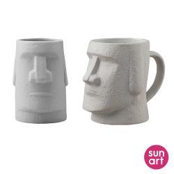 日本 sunart 馬克杯 - 摩艾石像(有握把/無握把)兩款