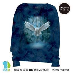 摩達客 預購-美國進口The Mountain 喚之貓頭鷹 女版船型領休閒長袖T恤