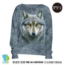 摩達客 預購-美國進口The Mountain 勇戰之狼 女版船型領休閒長袖T恤