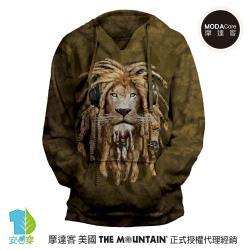 摩達客 預購-美國進口The Mountain DJ加滿獅 女版V領長袖連帽T恤