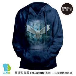 摩達客 預購-美國進口The Mountain 喚之貓頭鷹 女版V領長袖連帽T恤