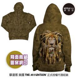 摩達客 預購-美國進口The Mountain DJ加滿獅 女版長袖連帽外套