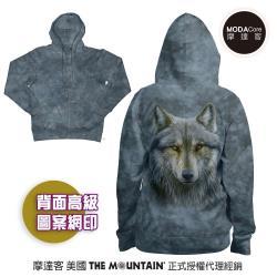 摩達客 預購-美國進口The Mountain 勇戰之狼 女版長袖連帽外套
