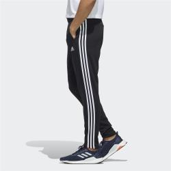 ADIDAS 3-STRIPES 男裝 長褲 慢跑 休閒 吸濕 排汗 口袋 基本款 黑 FM5353