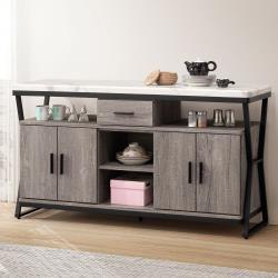 Homelike 艾布納仿石紋5尺餐櫃