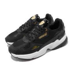 adidas 休閒鞋 Falcon 老爹鞋 厚底 女鞋 愛迪達 三葉草 金標 流行款 穿搭 黑 金 EF4988 [ACS 跨運動]