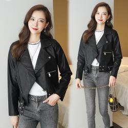 【韓國K.W.】(預購)完美飛織透氣健PU防風外套