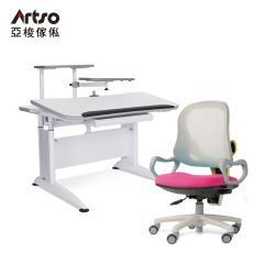 【Artso 亞梭】DK桌105cm旋轉架、主旋架+QQ抗菌椅(學習桌椅/成長桌椅/銀離子)