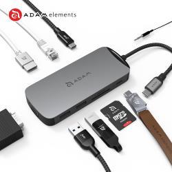 亞果元素 CASA Hub X USB-C 10合1 多功能擴充轉接 充電傳輸集線器