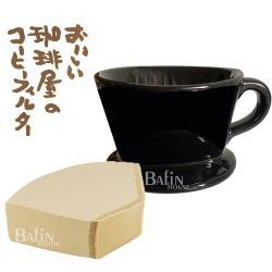 【日本 三洋】101 咖啡濾紙100張 & Welead 黑色陶瓷濾杯(1-2人份)