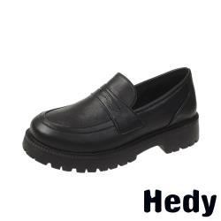 【Hedy】個性英倫風厚底經典便士樂福鞋 A款素面