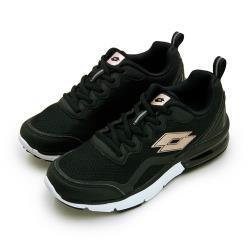 【LOTTO】女 專業避震氣墊慢跑鞋 FLUX 系列(黑金 0070)