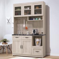 H&D 潔西石面4尺餐櫃