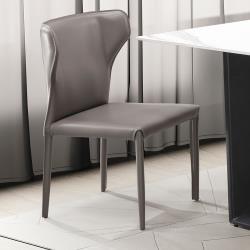 H&D 洛克厚馬鞍灰色餐椅