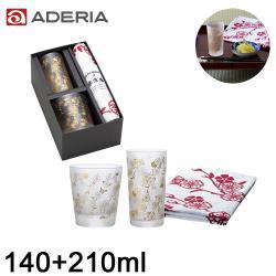 ADERIA 日本進口和風系列垂枝櫻花玻璃杯禮盒/組