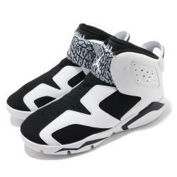 Nike 籃球鞋 Jordan 6 Retro 運動 童鞋 經典款 喬丹 避震 包覆 中童 穿搭 白 黑 CT4416100 [ACS 跨運動]