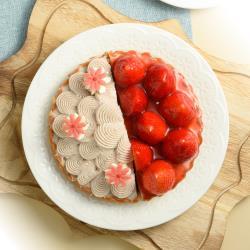亞尼克 6吋雙拼派塔-歡樂鮮莓+芋花園6吋(任選)