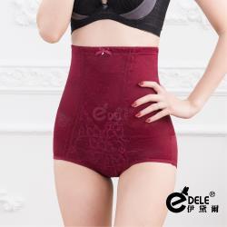 伊黛爾 完美塑型繡花蕾絲彈立中高腰雕塑褲 (M-XXXL,紅色)