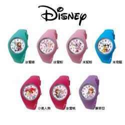 Disney迪士尼 Marvel漫威 繽紛馬卡龍色數字矽膠兒童手錶