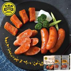 【黑橋牌】海洋烏金香腸3件組(原味飛魚卵香腸*2+烏魚子香腸*1)