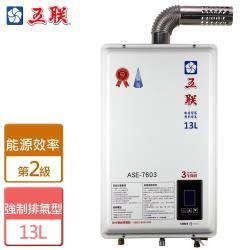 五聯  ASE-7603 - 智能恆溫13公升強制排氣熱水器 (FE式)-部分地區含基本安裝詳閱商品介紹