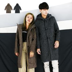 『RFD』毛料牛角釦帽大衣-2色可選《999A686》