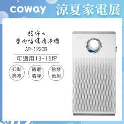 送OSTER 果汁機★韓國Coway 15坪綠淨力雙向循環空氣清淨機AP-1220B-庫