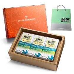 【統一】預倍葉黃素+DHA藻油 60粒膠囊*3罐禮盒提袋組 (添加葉黃素+DHA藻油+蝦紅素)
